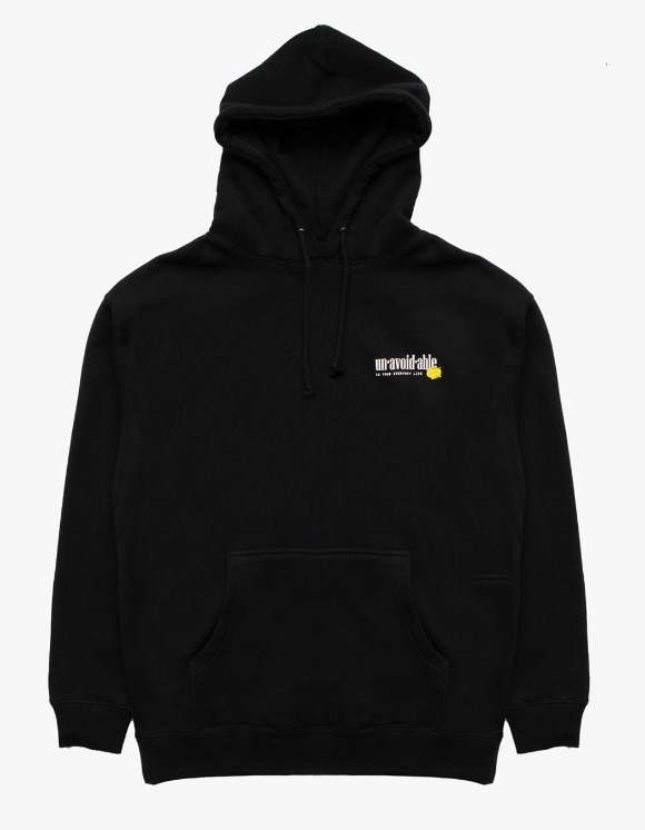 DAMNGOODLIFE Unavodable Hoodie - Black | HEIGHTS. Online Store