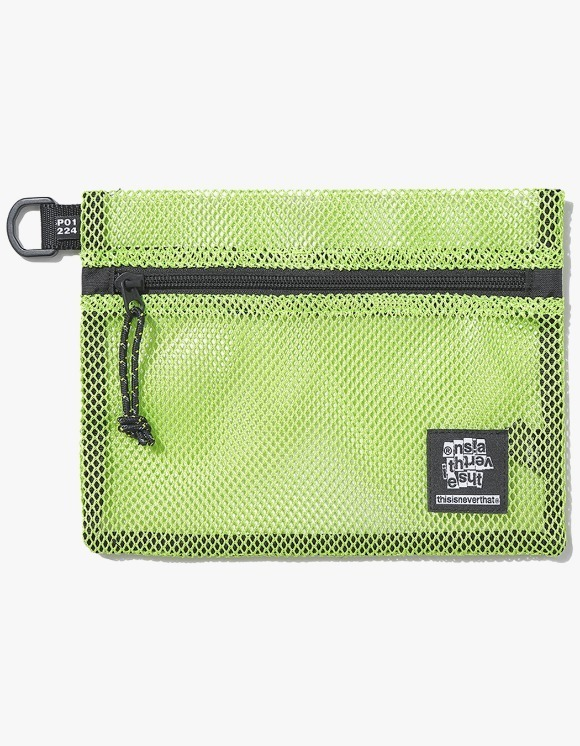 thisisneverthat Mesh Flat Pouch - Lime | HEIGHTS. | 하이츠 온라인 스토어