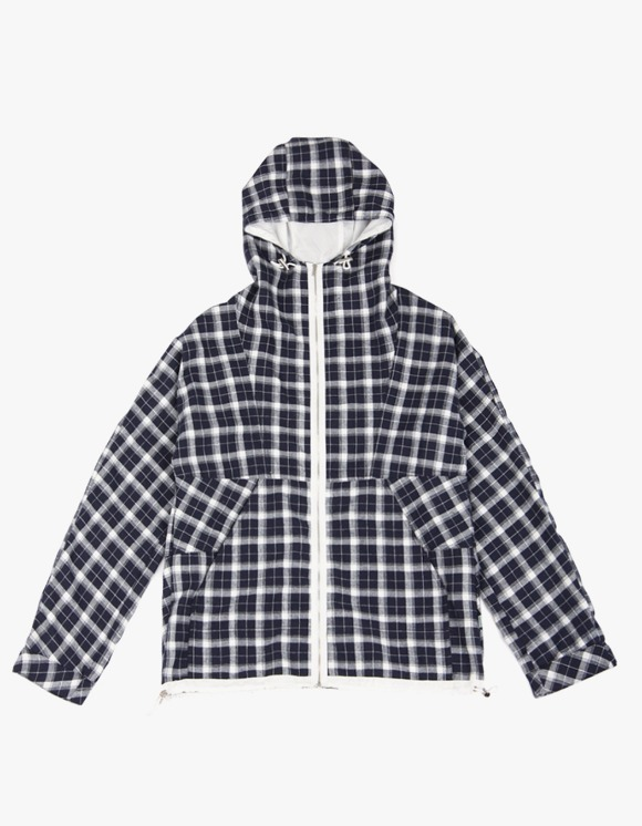 yeseyesee Check Mountain Parka - Navy | HEIGHTS. | 하이츠 온라인 스토어
