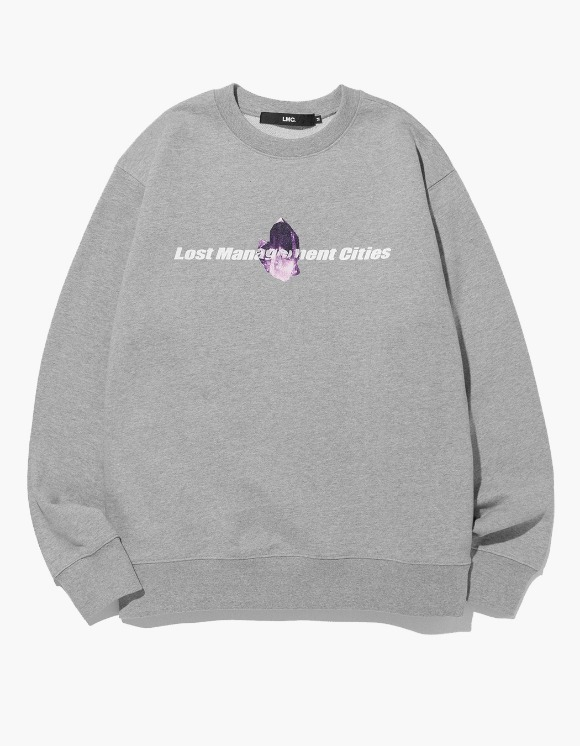 LMC LMC AMETHYST SWEATSHIRT heather gray | HEIGHTS. Online Store