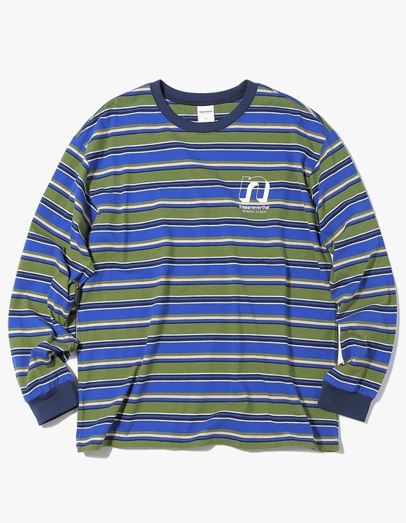 thisisneverthat N Striped L/SL Top - Olive/Blue | HEIGHTS. Online Store