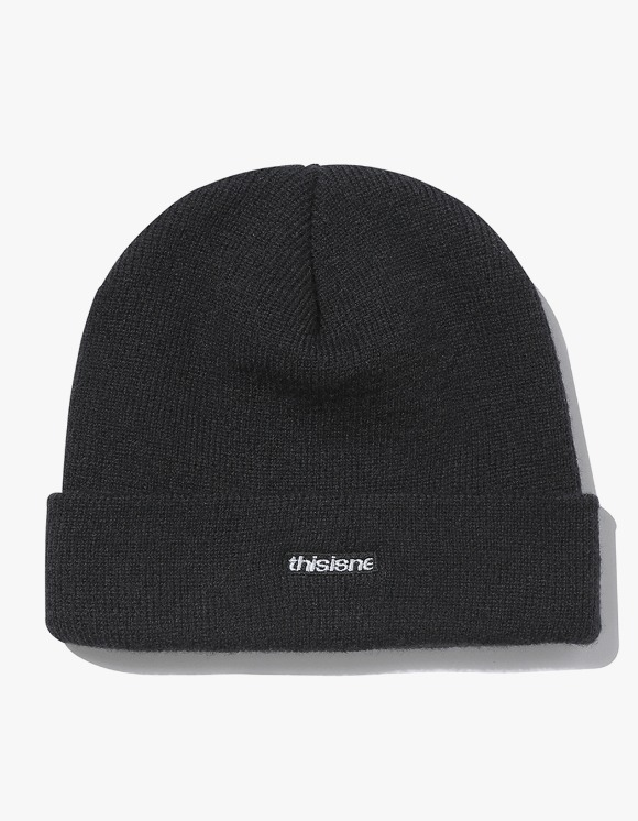 thisisneverthat HSP Short Beanie - Black | HEIGHTS. | 하이츠 온라인 스토어