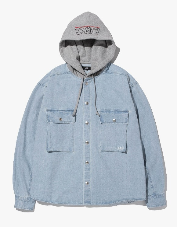 LMC LMC HOODED DENIM SHIRT lt. blue | HEIGHTS. | 하이츠 온라인 스토어