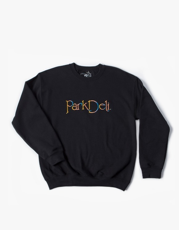 PARK DELI Astrid Script Crew Neck - Black | HEIGHTS. | 하이츠 온라인 스토어