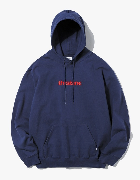 thisisneverthat HSP Hooded Sweatshirt - Navy | HEIGHTS. Online Store
