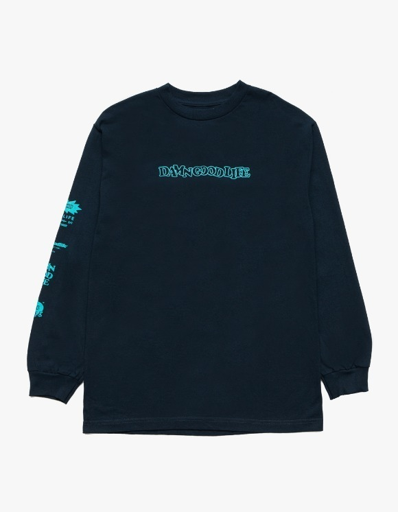 DAMNGOODLIFE DGL Signs L/S Tee - Navy | HEIGHTS. | 하이츠 온라인 스토어