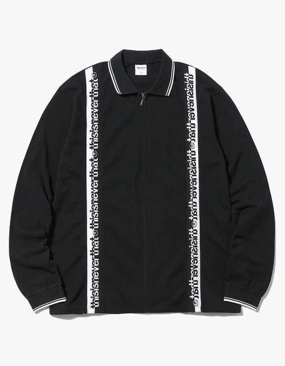 thisisneverthat Zipup L/SL Polo - Black | HEIGHTS. | 하이츠 온라인 스토어