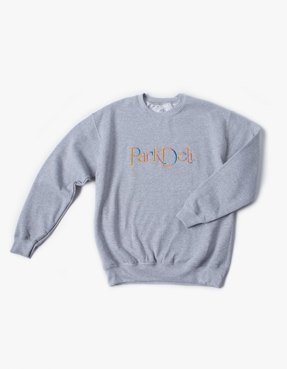 PARK DELI Astrid Script Crew Neck - Sport Grey | HEIGHTS. | 하이츠 온라인 스토어