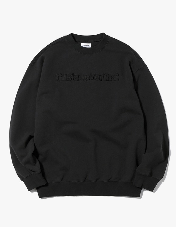 thisisneverthat T-Logo Crewneck - Black | HEIGHTS. | 하이츠 온라인 스토어