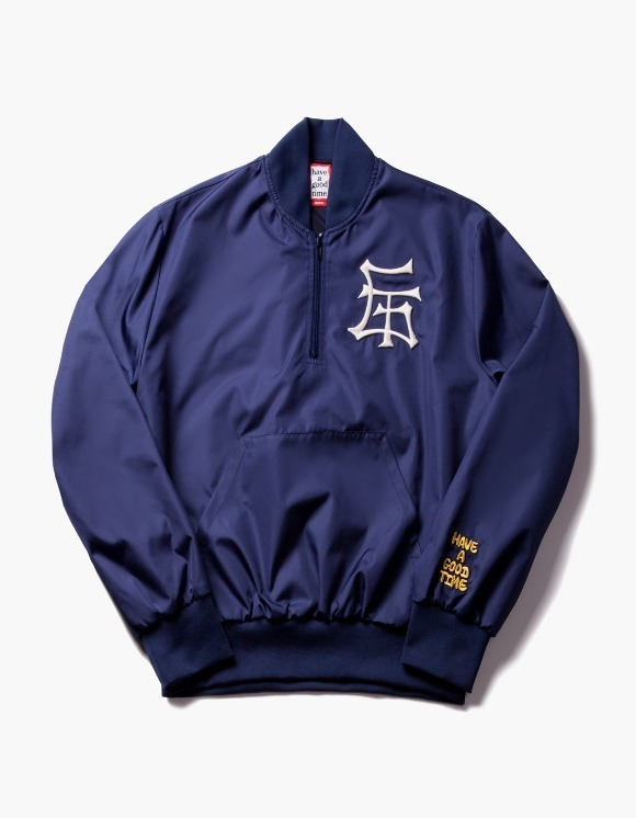 have a good time GT Half Zip-Up Nylon Jacket - Navy | HEIGHTS. | 하이츠 온라인 스토어