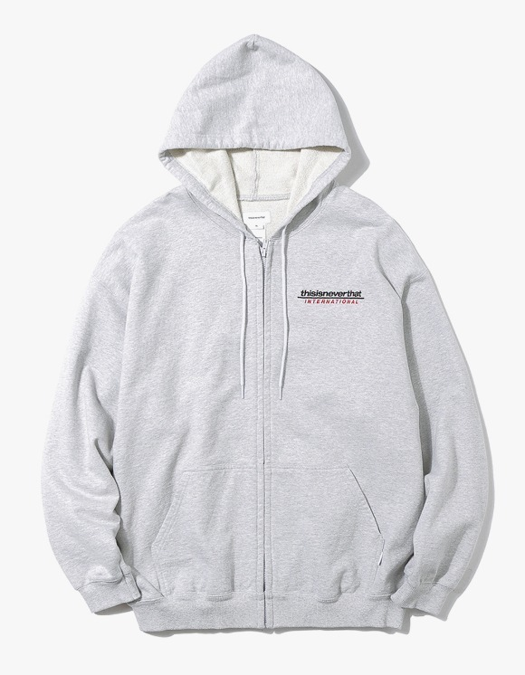 thisisneverthat SP-INTL. Logo ZIPUP Sweat - Grey | HEIGHTS. Online Store