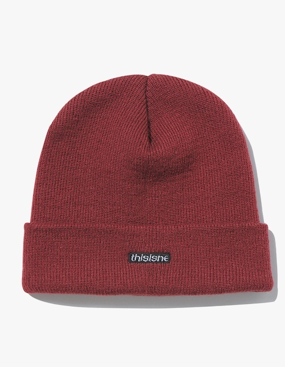thisisneverthat HSP Short Beanie - Brick Red | HEIGHTS. | 하이츠 온라인 스토어