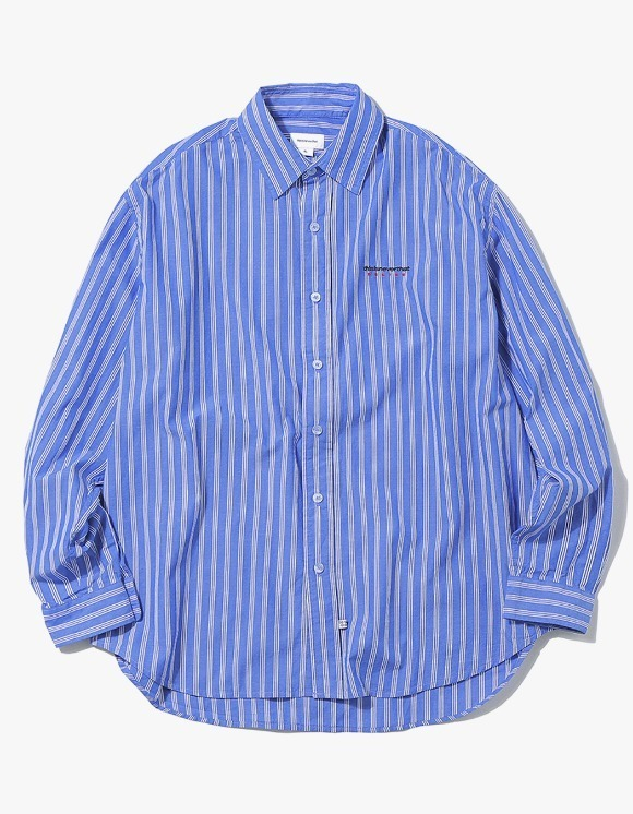 thisisneverthat DSN Logo Striped Shirt - Blue | HEIGHTS. | 하이츠 온라인 스토어