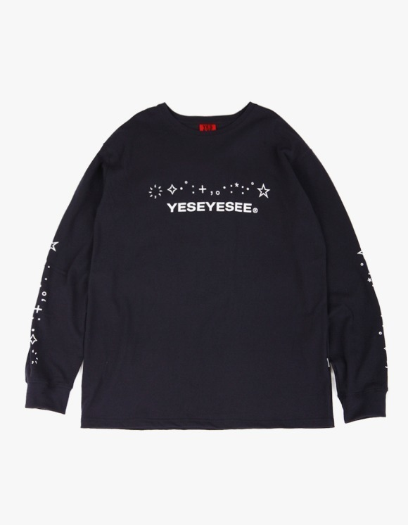 yeseyesee Kaomoji Long Sleeve - Navy | HEIGHTS. | 하이츠 온라인 스토어