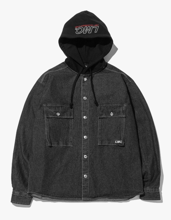 LMC LMC HOODED DENIM SHIRT black | HEIGHTS. | 하이츠 온라인 스토어
