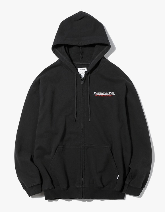 thisisneverthat SP-INTL. Logo ZIPUP Sweat - Black | HEIGHTS. Online Store