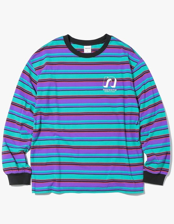 thisisneverthat N Striped L/SL Top - Green/Purple | HEIGHTS. Online Store