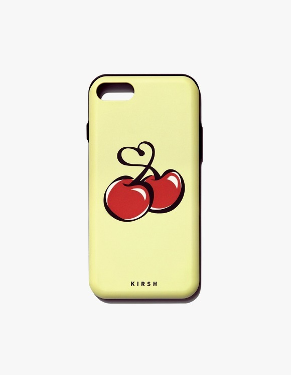 KIRSH Heart Cherry Bumper Phone Case IS - Yellow | HEIGHTS. | 하이츠 온라인 스토어