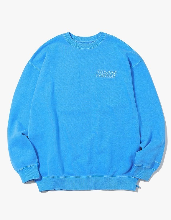 thisisneverthat ACE Logo Overdyed Crewneck - Blue | HEIGHTS. | 하이츠 온라인 스토어