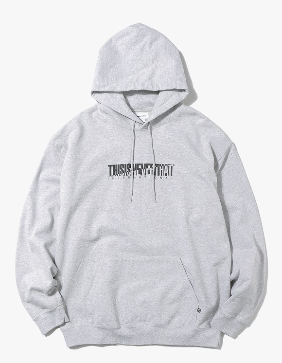 thisisneverthat CP-INTL. Hooded Sweatshirt - Grey | HEIGHTS. Online Store
