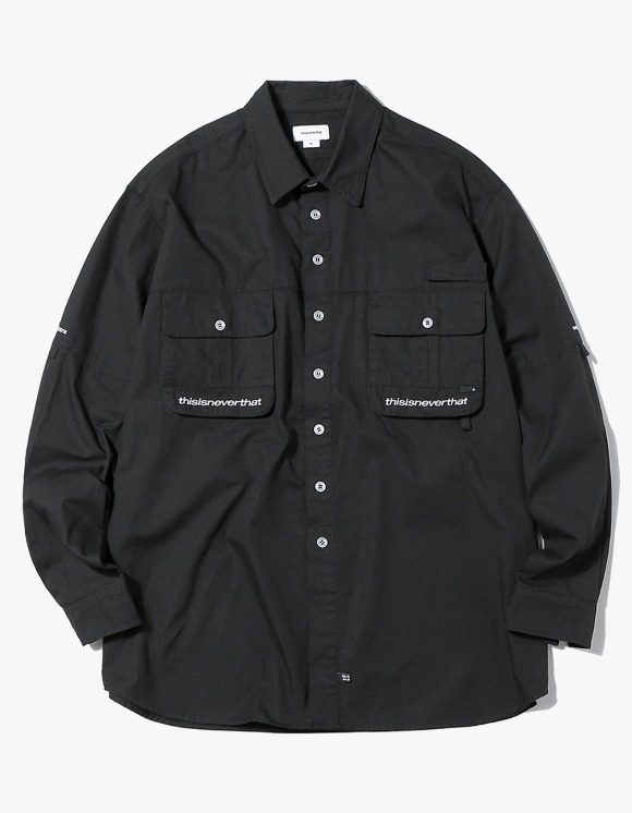 thisisneverthat Sports Fishing shirt - Black | HEIGHTS. | 하이츠 온라인 스토어