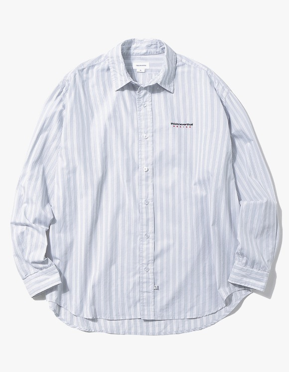 thisisneverthat DSN Logo Striped Shirt - Grey | HEIGHTS. | 하이츠 온라인 스토어