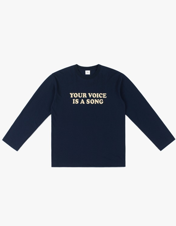 CLIF Your Voice Long Sleeve Tee - Navy | HEIGHTS. | 하이츠 온라인 스토어