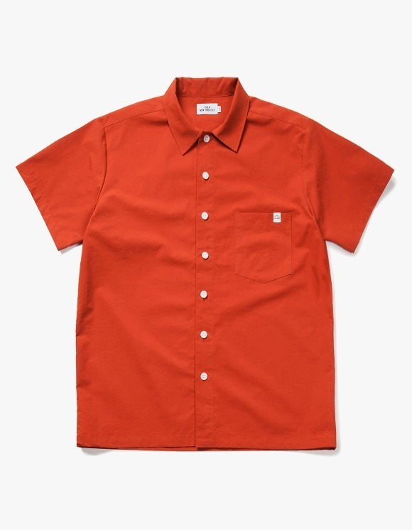 IZOLA NYC Wide Work S/S Shirts - Brick | HEIGHTS. | 하이츠 온라인 스토어