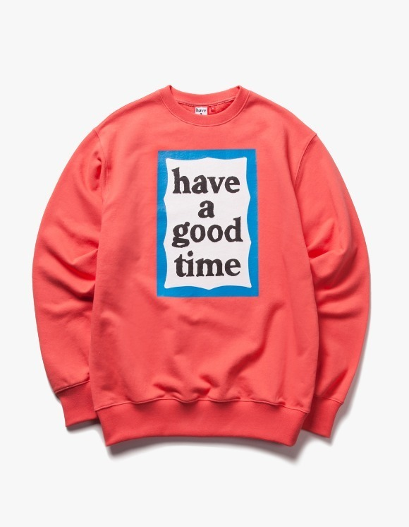 have a good time Blue Frame Crewneck - Coral | HEIGHTS. | 하이츠 온라인 스토어