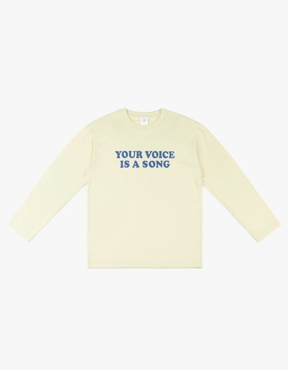 CLIF Your Voice Long Sleeve Tee - Ivory | HEIGHTS. | 하이츠 온라인 스토어