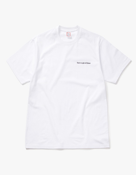 have a good time Side Logo S/S Tee - White | HEIGHTS. | 하이츠 온라인 스토어