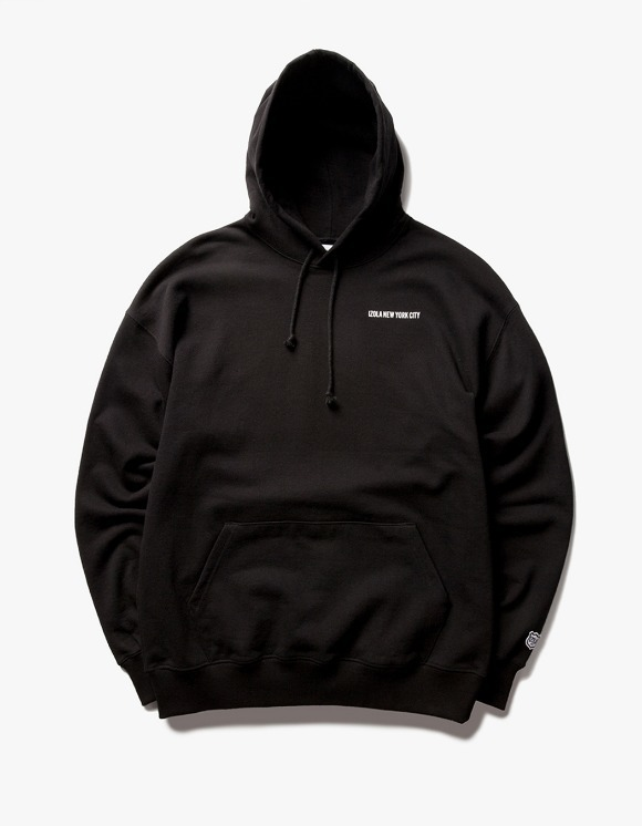 IZOLA NYC Logo Pullover Hoodie - Black | HEIGHTS. | 하이츠 온라인 스토어