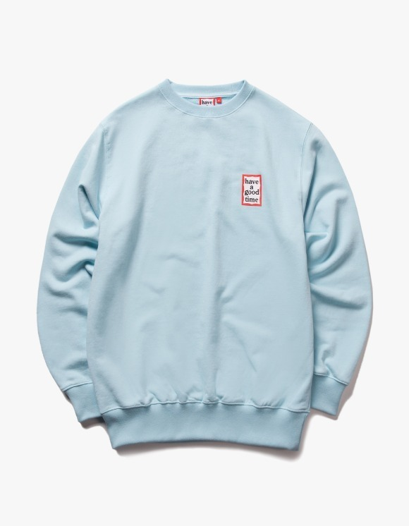have a good time Mini Frame Crewneck - Sky Blue | HEIGHTS. | 하이츠 온라인 스토어