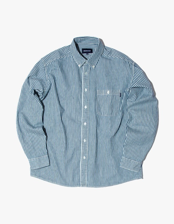 WKNDRS Striped Denim Shirts - White | HEIGHTS. | 하이츠 온라인 스토어