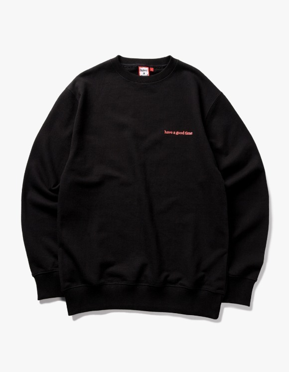 have a good time Side Logo Crewneck - Black | HEIGHTS. | 하이츠 온라인 스토어