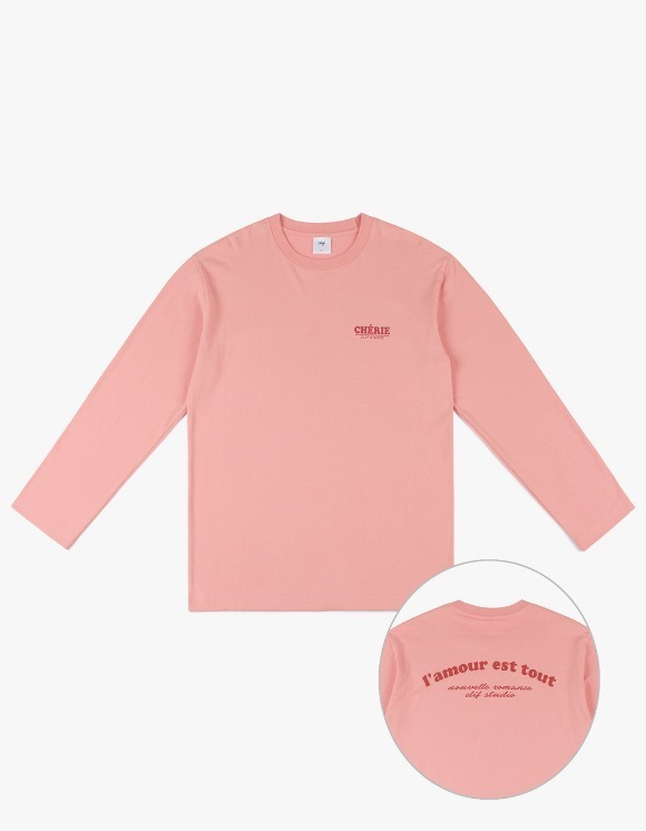 CLIF Amour Long Sleeve Tee - Pink | HEIGHTS. | 하이츠 온라인 스토어