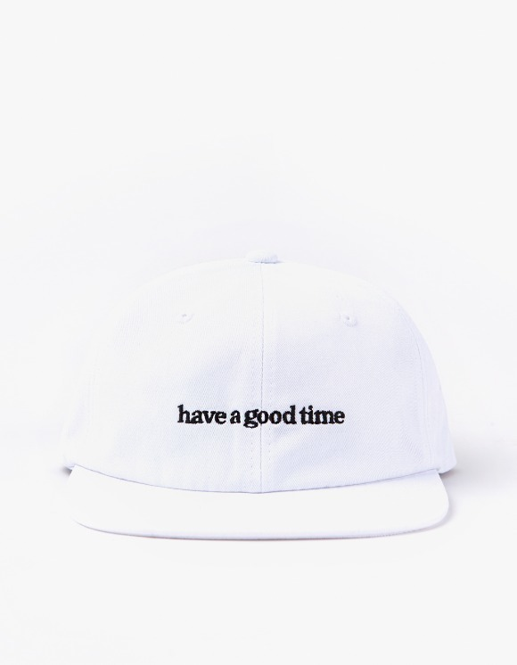 have a good time 6 Panel Side Logo Cap - White | HEIGHTS. | 하이츠 온라인 스토어