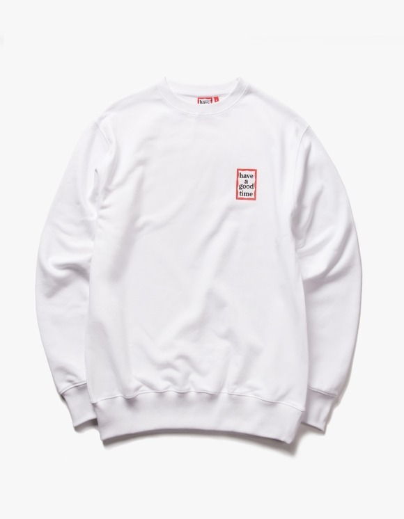 have a good time Mini Frame Crewneck - White | HEIGHTS. | 하이츠 온라인 스토어