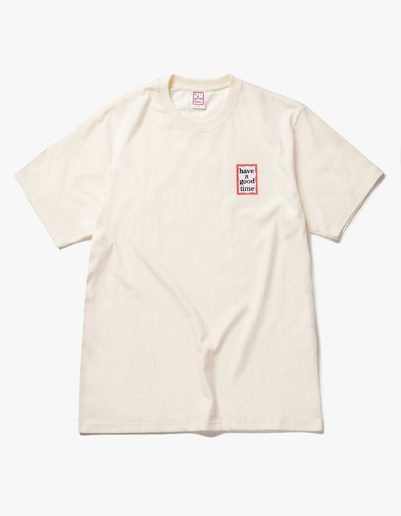 have a good time Mini Frame S/S Tee - Cream | HEIGHTS. | 하이츠 온라인 스토어