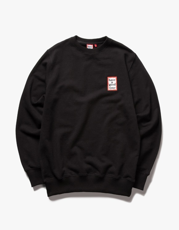 have a good time Mini Frame Crewneck - Black | HEIGHTS. | 하이츠 온라인 스토어