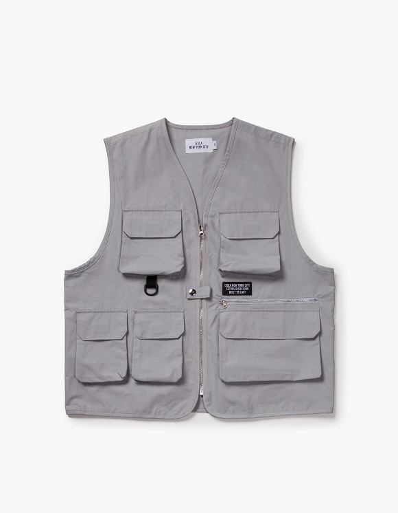 IZOLA NYC Utility Fishing Vest - Grey | HEIGHTS. | 하이츠 온라인 스토어