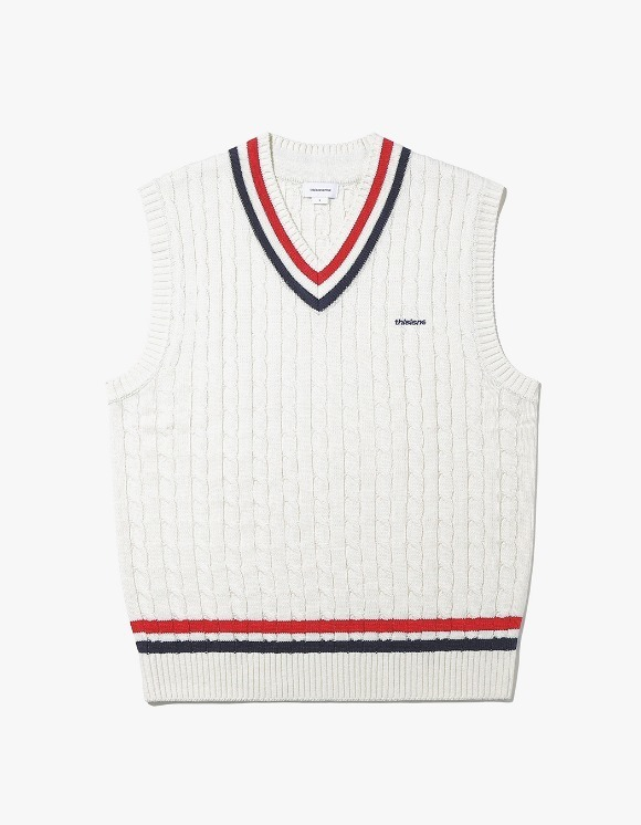 thisisneverthat Tennis Knit Vest - Ivory | HEIGHTS. | 하이츠 온라인 스토어