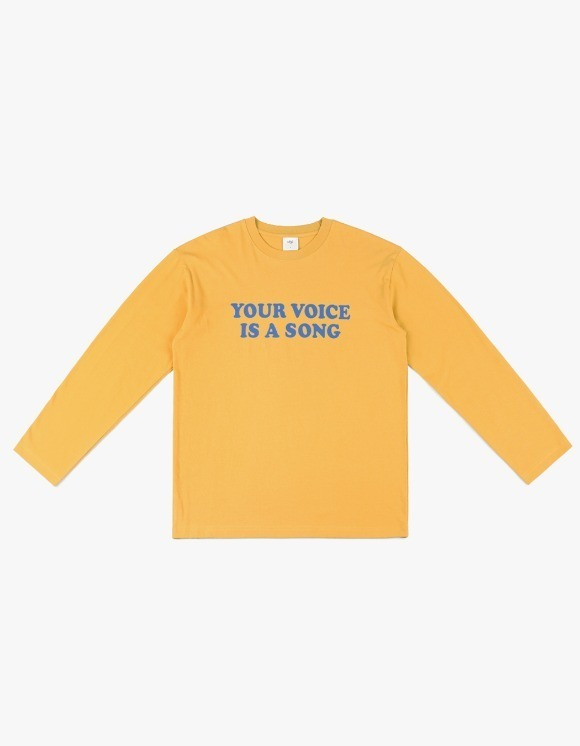 CLIF Your Voice Long Sleeve Tee - Murstard | HEIGHTS. | 하이츠 온라인 스토어