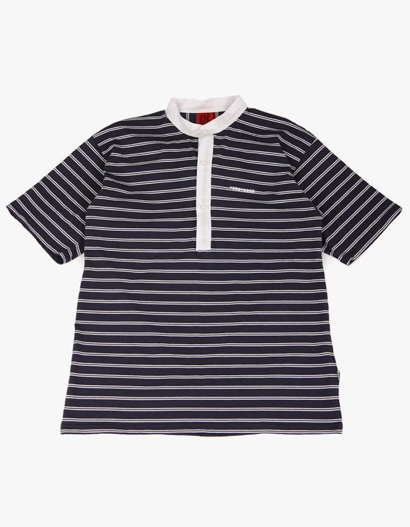 yeseyesee Collar Stripe Tee  - Navy/White | HEIGHTS. | 하이츠 온라인 스토어