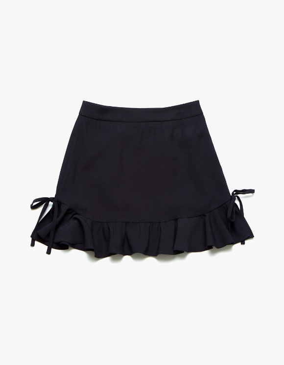 Margarin Fingers Ruffle Hem Mini Skirt - Navy | HEIGHTS. | 하이츠 온라인 스토어