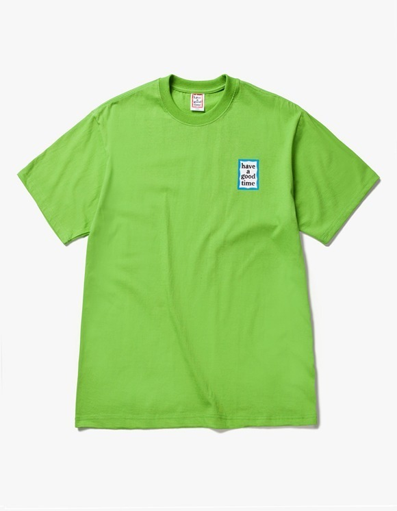 have a good time Mini Blue Frame S/S Tee -Leaf Green | HEIGHTS. | 하이츠 온라인 스토어