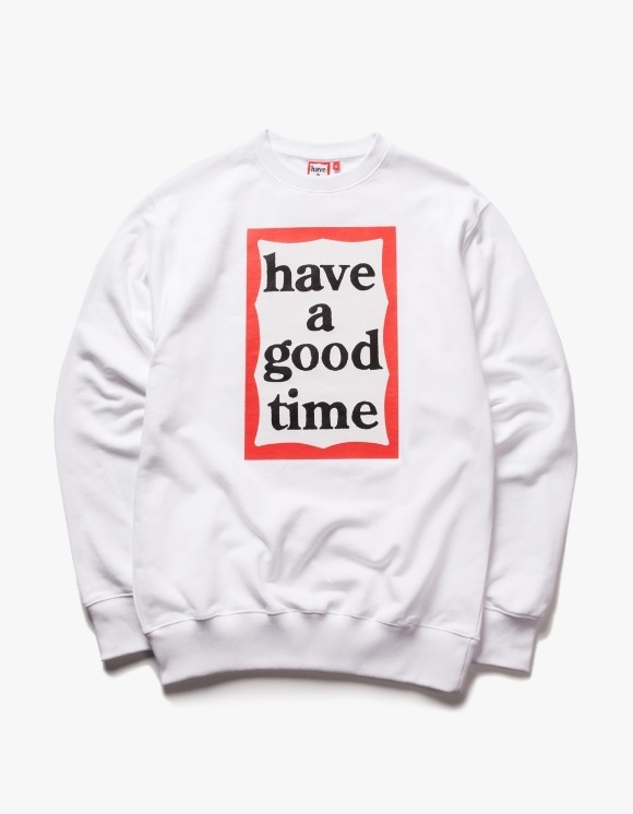 have a good time Frame Crewneck - White | HEIGHTS. | 하이츠 온라인 스토어