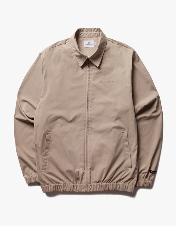 IZOLA NYC Coach ZIp Up Jacket - Beige | HEIGHTS. | 하이츠 온라인 스토어