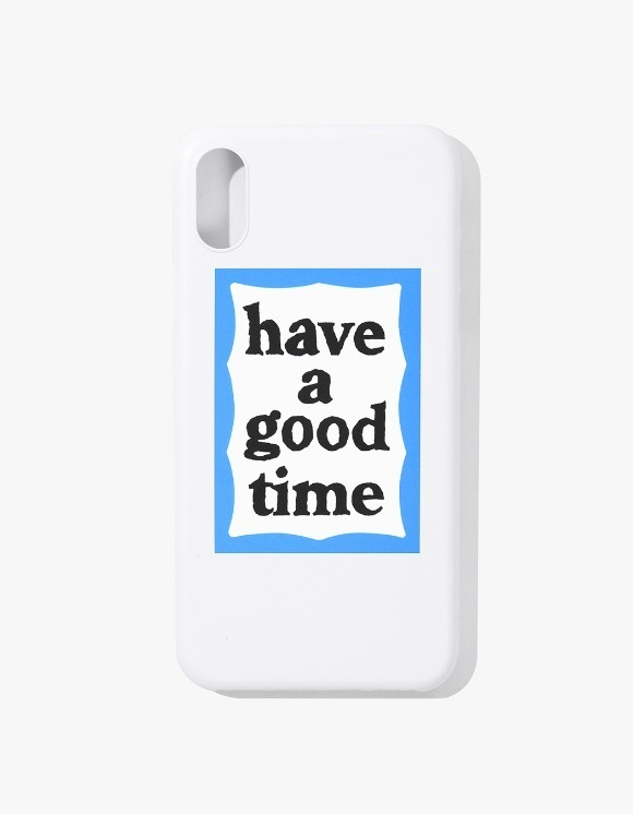 have a good time Blue Frame iPhone Case X - White | HEIGHTS. | 하이츠 온라인 스토어