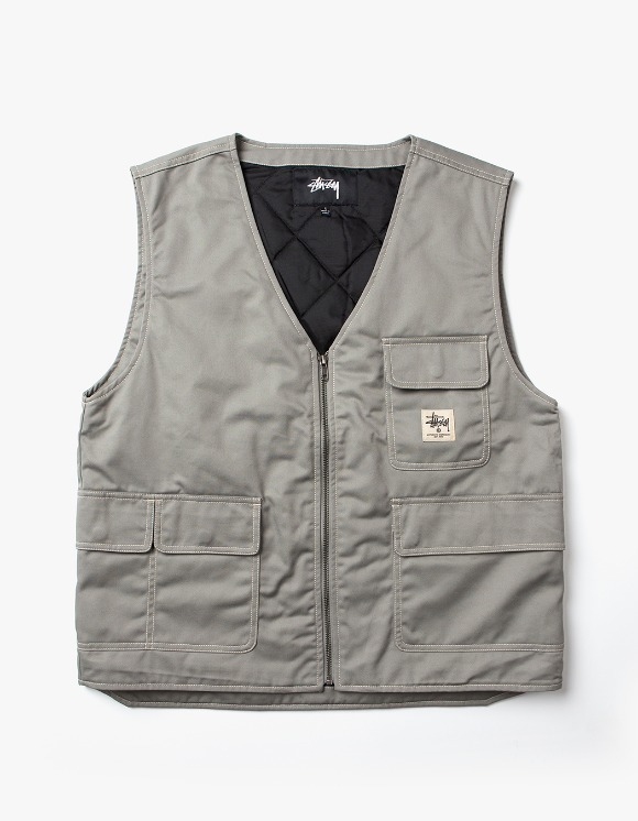 Stussy Poly Cotton Work Vest - Grey | HEIGHTS. | 하이츠 온라인 스토어